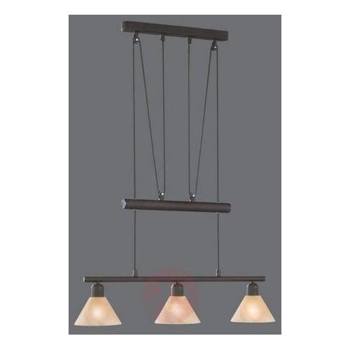 Trio leuchten Lampa wisząca zug, regulowana wysokość, 3-punktowa (4017807182255)