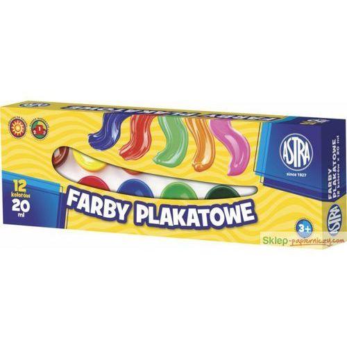 Farby plakatowe ASTRA słoiczek 20ml. 12 kolorów (5900263020034)