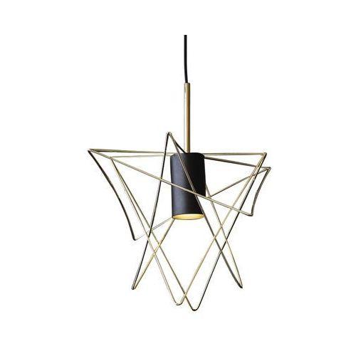 Nowodvorski Gstar 8854 Lampa wisząca zwis 1x35W GU10 Czarna/mosiądz, kolor Czarny,
