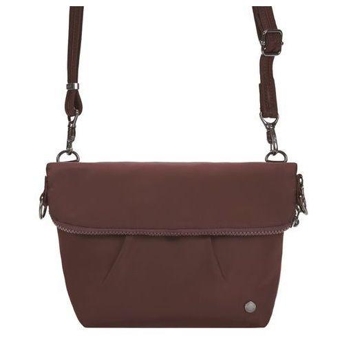 Składana torebka damska antykradzieżowa Pacsafe Citysafe CX Convertible bordowy - Bordowy, kolor czerwony