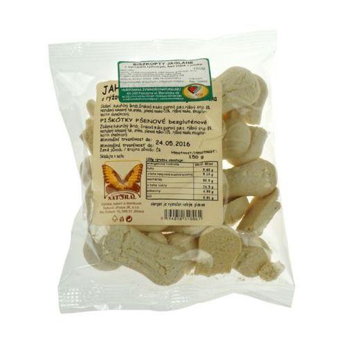 Biszkopty jaglane bezglutenowe z syropem ryżowym bez jajek, cukru i mleka 150g NATURAL