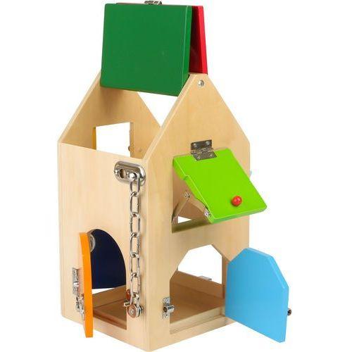 Drewniany Domek z zamkami Edukacyjny Zręcznościowy dla Dzieci 4432