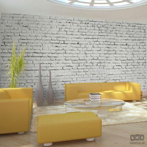 Fototapeta ściana z białej surowej cegły 100705-4 marki Murando