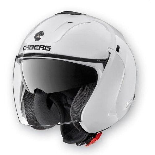 Caberg kask otwarty jet z blendą model downtown kolor biały połysk, czarny mat