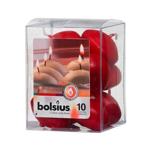 świece pływające bordowe 10 sztuk marki Bolsius