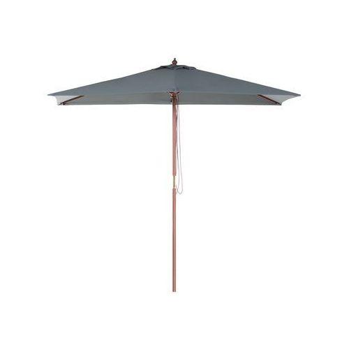 Parasol ogrodowy drewniany 144 x 195 cm ciemnoszary FLAMENCO (4260580928149)