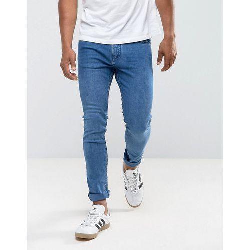 Mango Man Skinny Jeans In Mid Wash - Blue