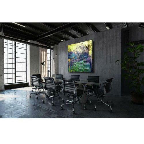 barwy zaklęte w fakturach - duży obraz abstrakcyjny do salonu