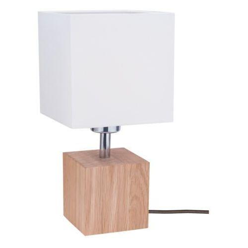 Lampa stołowa lampka Spot Light Trongo 1x60W E27 dąb olejowany/antracyt/biały 7191174