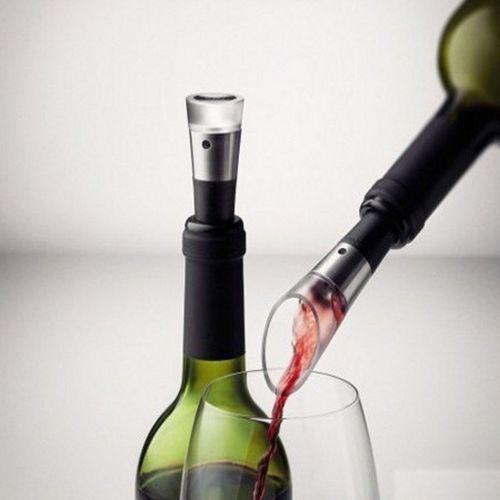 Menu - zestaw: nalewak i pompka do wina vignon - water & wine