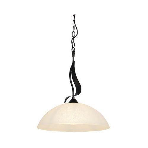 Klasyczna lampa wisząca brązowa z opalowym szkłem - unik marki Honsel
