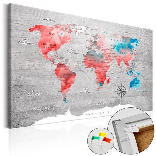 Artgeist Obraz na korku - czerwona wędrówka [mapa korkowa]