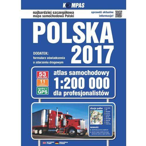 Atlas samochodowy Polski 1:200 000 / 2017, praca zbiorowa