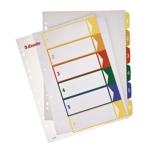 Przekładki numeryczne Esselte Maxi A4+/1-5, do nadruku 100211