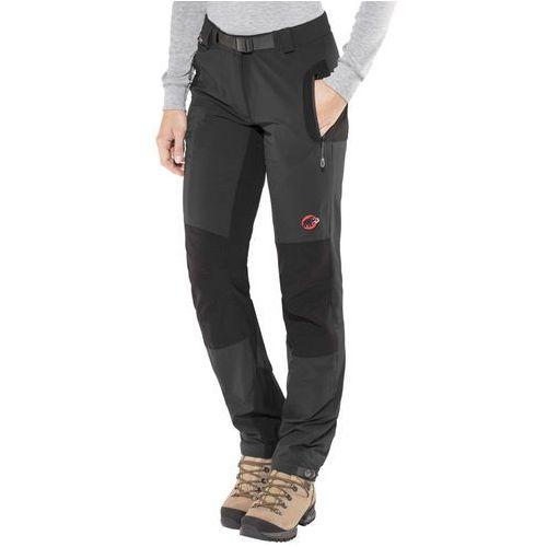 courmayeur so spodnie długie kobiety czarny de 40 (krótkie) 2018 spodnie softshell marki Mammut