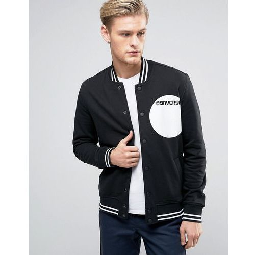 Converse  bomber jacket with dot logo in black 10003597-a01 - black