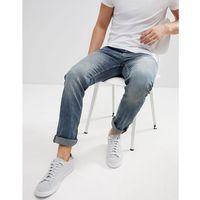 Tom Tailor Jeans In Skinny Fit Worn Denim - Blue, kolor niebieski