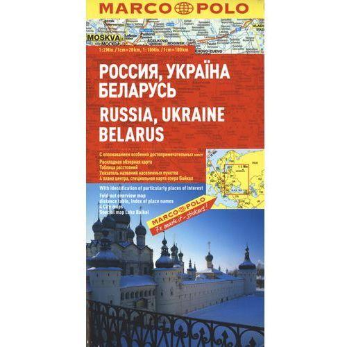 Rosja Ukraina Białoruś mapa samochodowa 1:300 000 (2 str.)