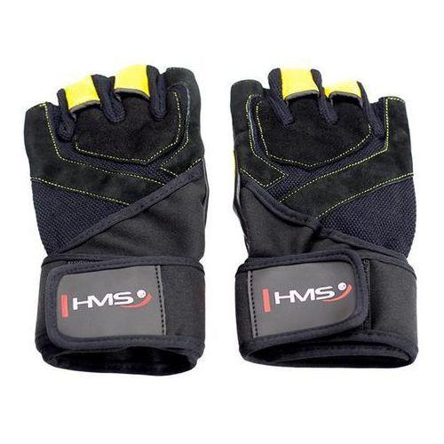 Rękawice fitness HMS RST01 (rozmiar M) Czarno-żółty (5907695523096)