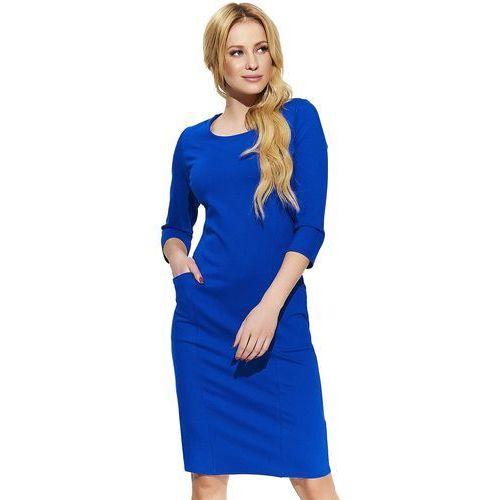 Makadamia sukienka damska 38 niebieska, kolor niebieski
