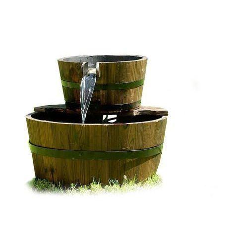 Fontanna wodnik ogrodowa beczki drewniane