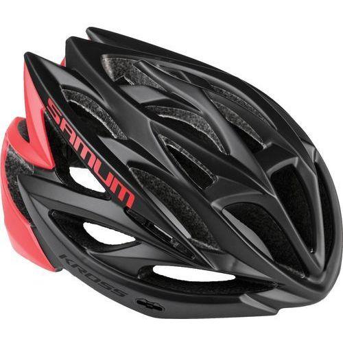 Kask rowerowy samum m 54-58cm czarny/czerwony marki Kross