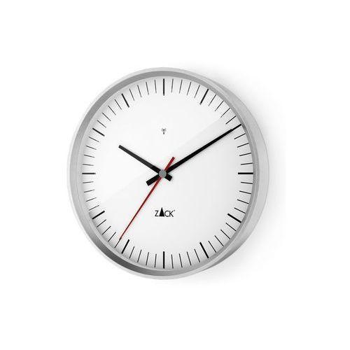 - zegar ścienny sterowany radiowo 35 cm - biały - biały marki Zack