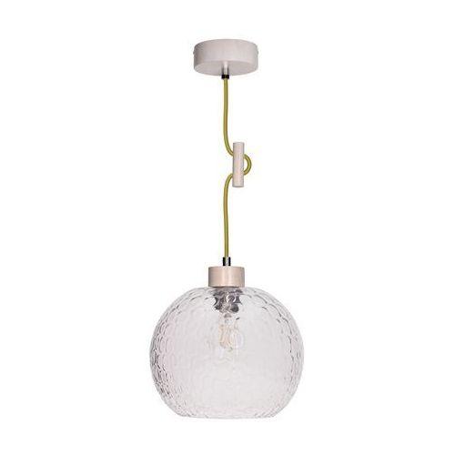Lampa wisząca zwis oprawa Spot Light Svea 1x60W E27 dąb bielony/oliwkowy 1357232 (5901602351215)