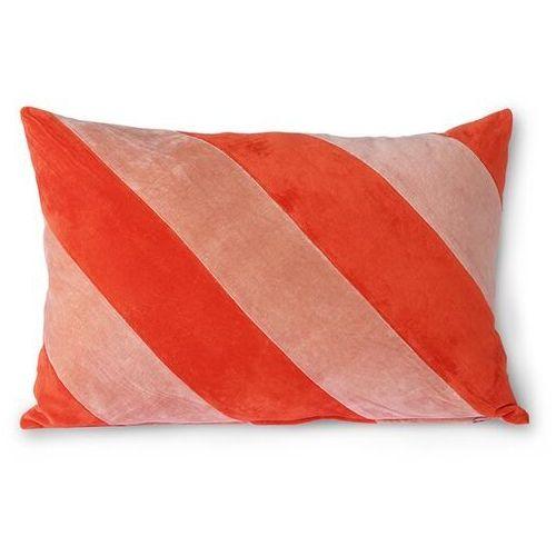 Hkliving poduszka velvet w paski czerwony/róż (40x60) tku2106 (8718921036344)