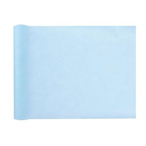 Santex Dekoracja bieżnik z włókniny na stół - błękitny - 30 cm - 1 szt.