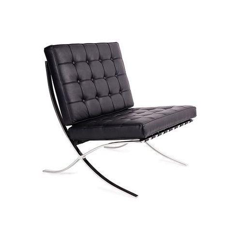 King home Modesto fotel barcelon czarny - ekoskóra, chrom. (5900168801356)