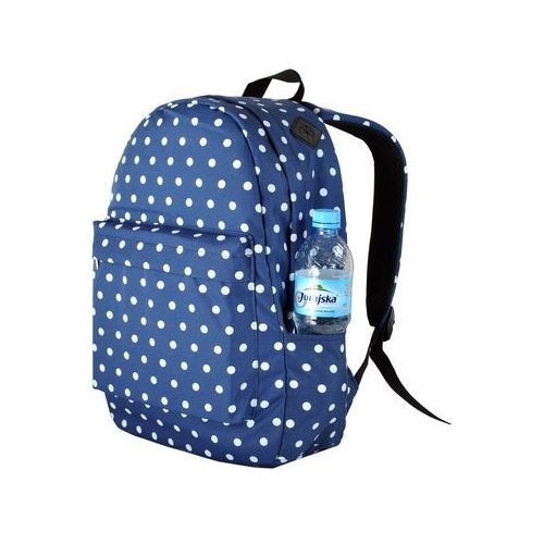 73c87fb6aca96 Duży plecak szkolny plecaki groszki kropki vintage marki Tara