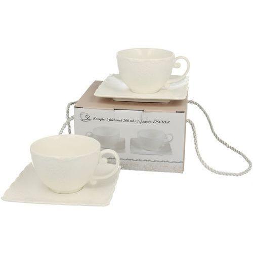 Zestaw 2 filiżanki do kawy fischer tłoczony marki Duo