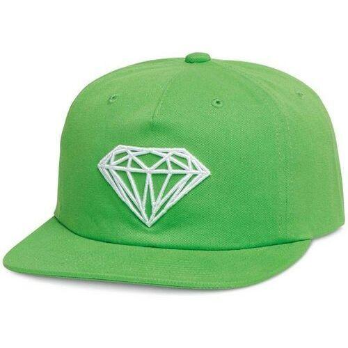 czapka z daszkiem DIAMOND - Brilliant Unstructured Snapbac Green (GRN), kolor zielony