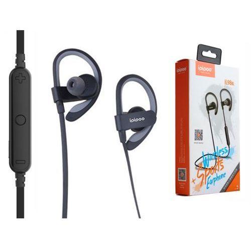 ipipoo iL98BL Szare by AWEI douszne sportowe słuchawki bezprzewodowe Bluetooth 4.2