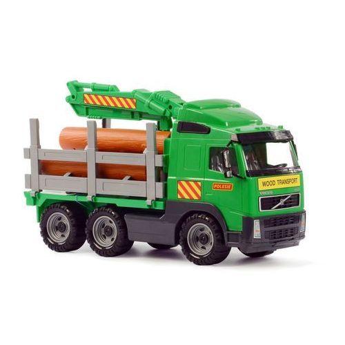 wader volvo zielona ciężarówka do przewozu drewna, 45x19x25 cm marki Polesie