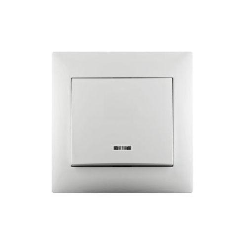 Lexman Włącznik pojedynczy schodowy lika biały z podświetleniem (3276000704720)