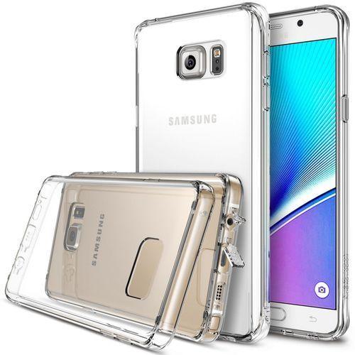 Zestaw Rearth - Obudowa Ringke Fusion + Folia ochronna na ekran i tył Samsung Galaxy Note 5 Crystal - Crystal