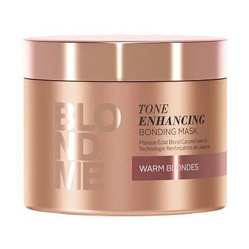 Schwarzkopf professional blondme maseczka odżywcza do ciepłych odcieni blond (tone enhancing bonding mask) 200 ml