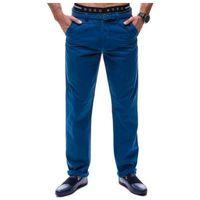 Spodnie chinosy męskie niebieskie Denley 6191, chinosy