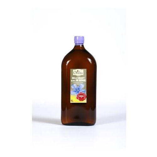 Olej lniany do diety dr Budwig tłoczony na zimno, nieoczyszczony 1000 ml - Olvita