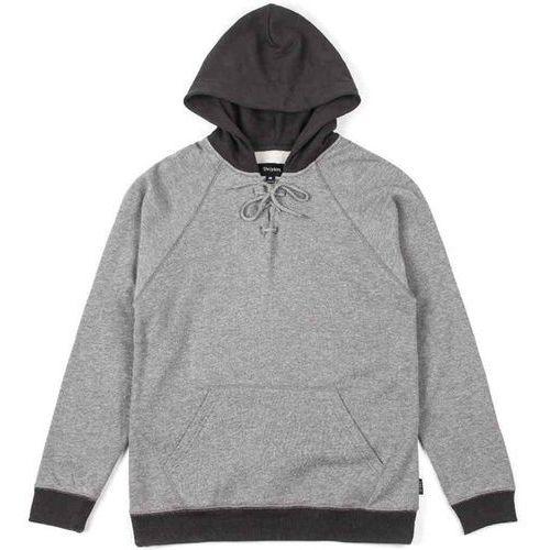 Brixton Bluza - hull hooded heather grey/black (0335) rozmiar: l