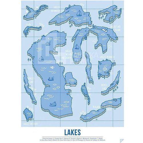 Plakat Lakes 30 x 40 cm, laken3040