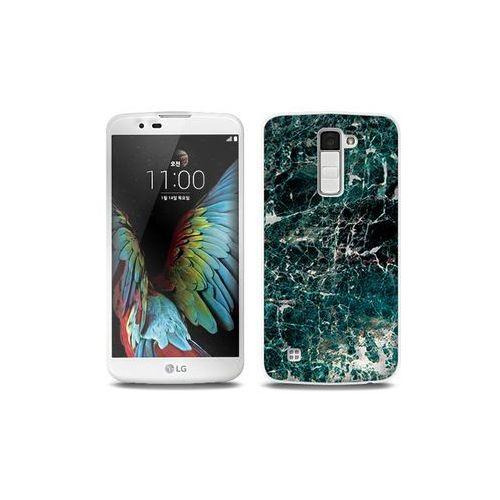 LG K10 - etui na telefon Full Body Slim Fantastic - zielony marmur, ETLG287FBSFFC031000