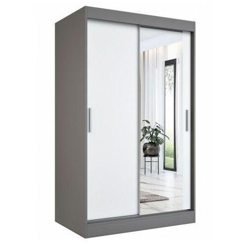 Szafa z drzwiami przesuwnymi antracyt + biały - palmira 3x marki Elior