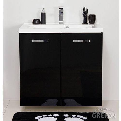 Czarna szafka łazienkowa z umywalką 80/48/k jona marki Gante