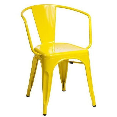 D2.design Krzesło paris arms inspirowane tolix - żółty (5902385717083)