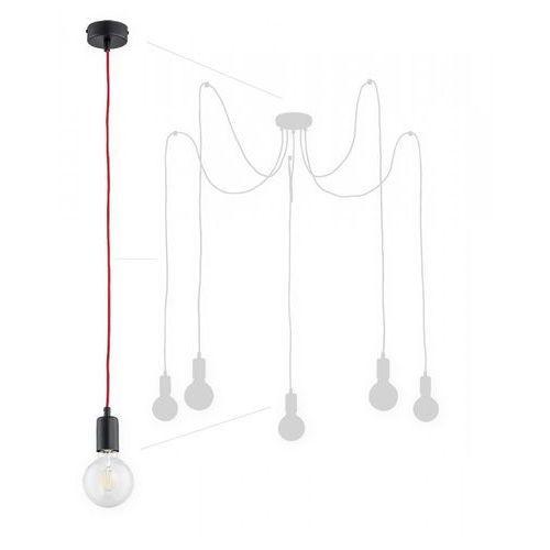 Lemir maris o2755 w5 cza + cze lampa wisząca zwis pająk 5x60w e27 czarny mat / czerwony