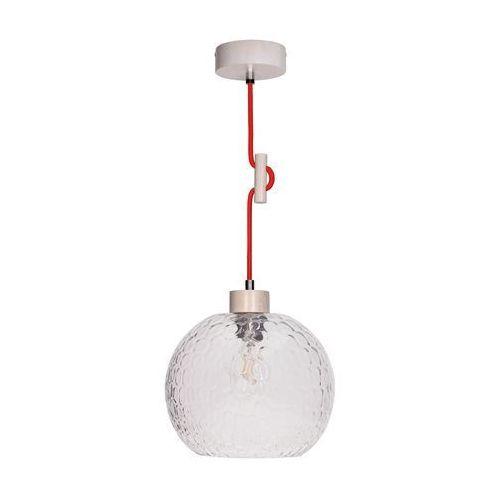 Spot-light svea lampa wisząca dąb bielony/czerwony 1xe27-60w 1357632