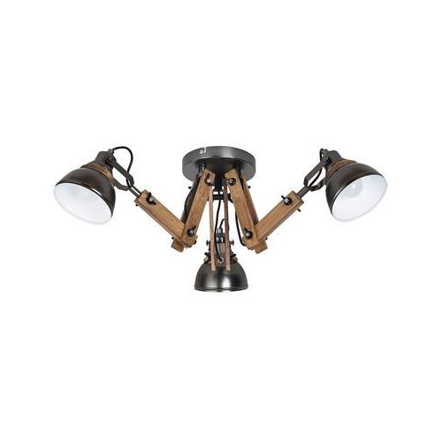 Rabalux Plafon aksel 2724 lampa sufitowa 3x15w e14 led czarny / buk (5998250327242)